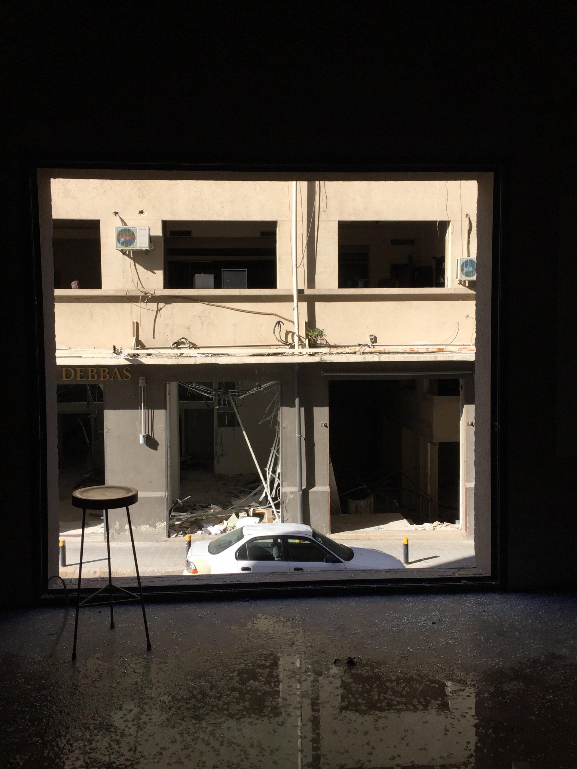 Window in the restaurant area